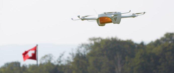 Почта Швейцарии протестирует доставку дронами