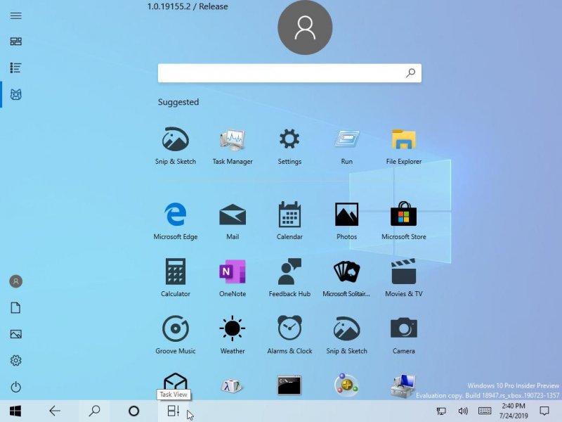 """Новая Windows получит упрощенное меню """"Пуск"""""""