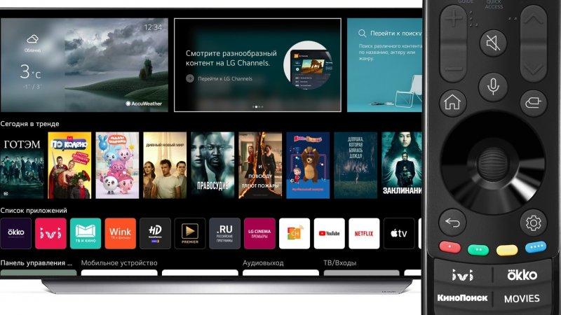 Телевизоры LG линейки 2021 года получили webOS 6 и новый пульт